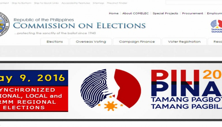 Comelec website back to normal after hacking