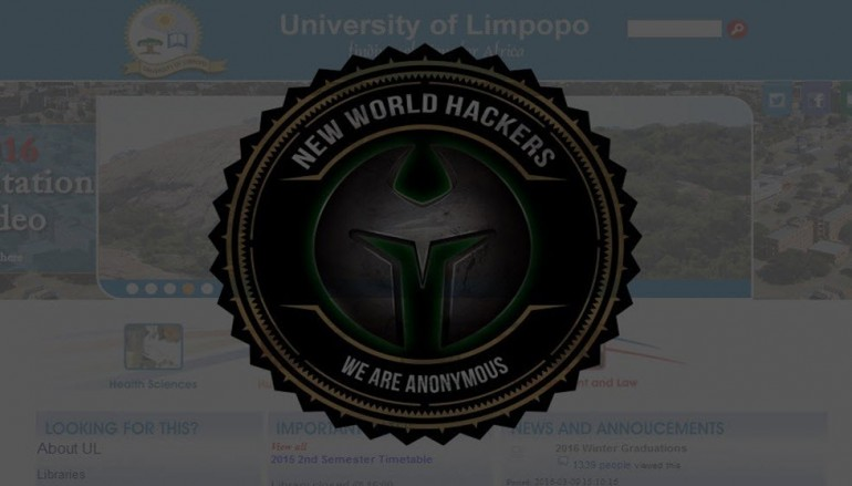 Anonymous Leaks Data From South African University