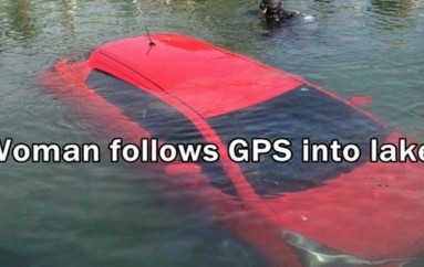 GPS falsely guided this woman's car straight into a 100-foot-deep lake