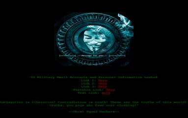 Ghost Squad Hackers Leak Data of US Military Personnel