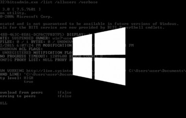 Windows BITS Service Used to Reinfect Computers with Malware