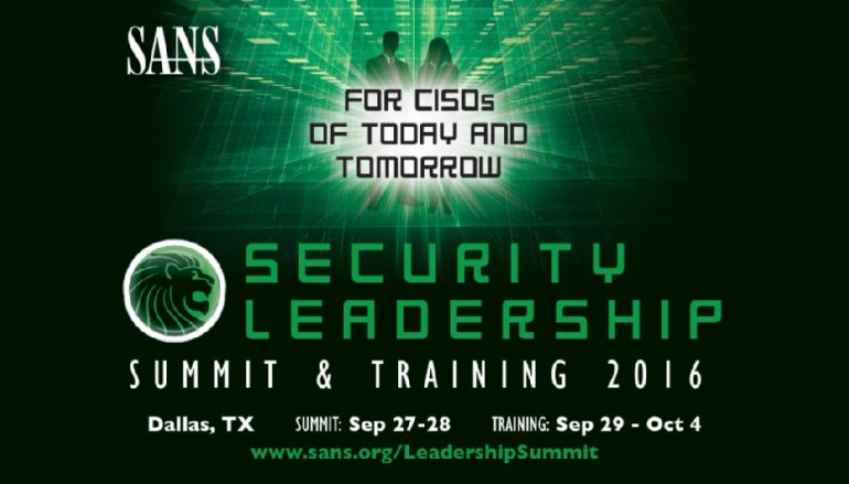 SANS Security Leadership Summit 2016