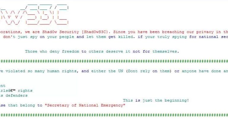 Shad0wS3C group hacked the Paraguay Secretary of National Emergency