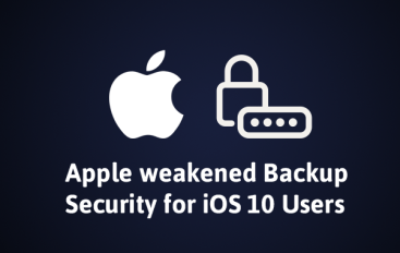 Apple Weakens iOS 10 Backup Encryption; Now Can Be Cracked 2,500 Times Faster