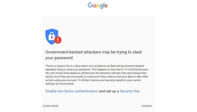 Google Warns Journalists and Activists About Recent State-Sponsored Attacks