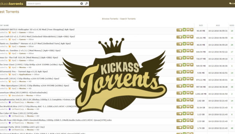 New Kickass Torrents Site is Back Online by Original Staffers