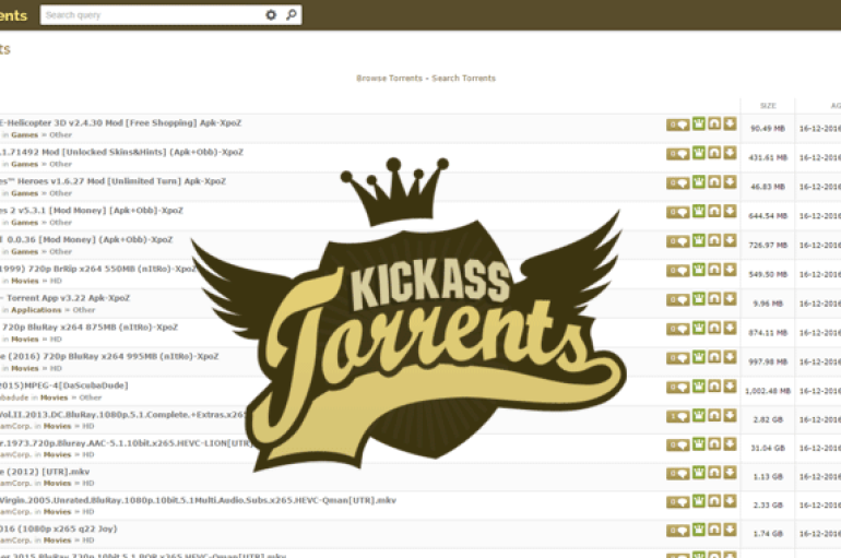 New Kickass Torrents Site is Back Online by Original Staffers