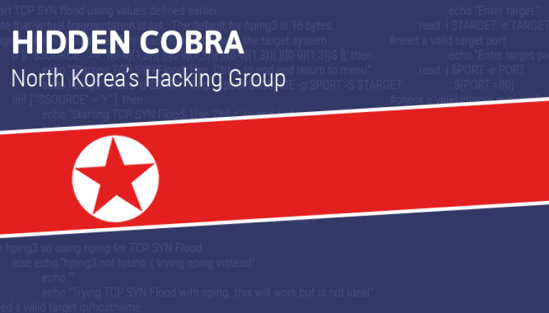 Hidden Cobra and DeltaCharlie
