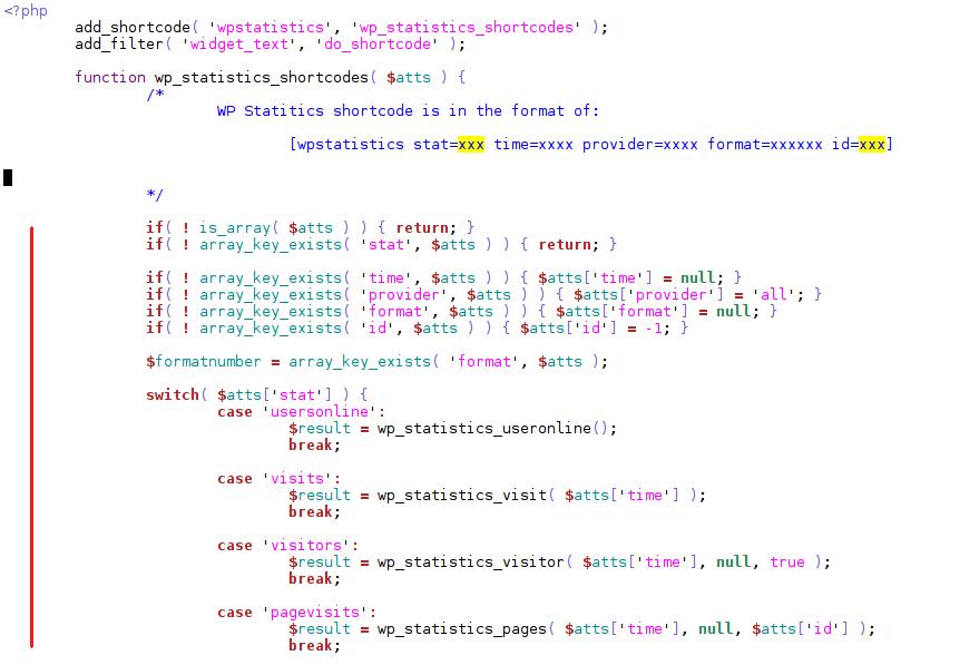 wpstatistics-shortcode