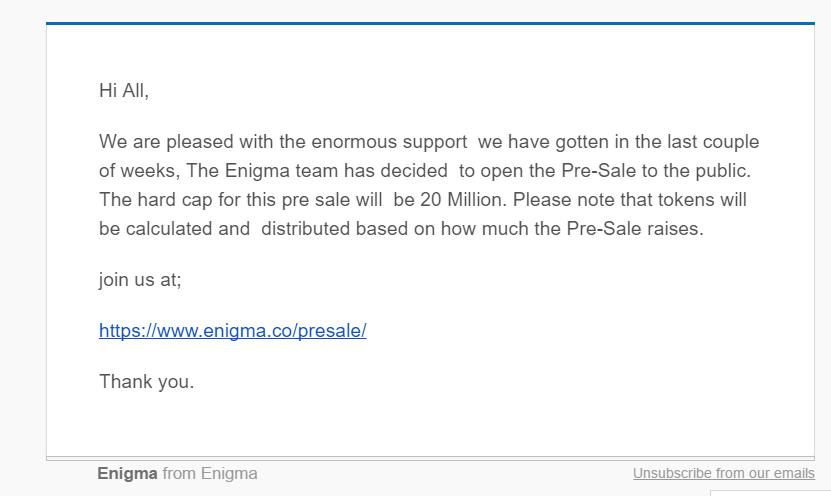Enigma-ethereum-email