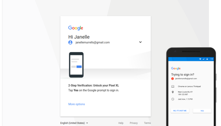 Google Prompt Now Primary Choice for 2-Step Verification
