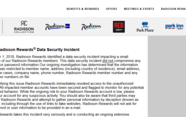 The Radisson Hotel Group Has Suffered A Data Breach