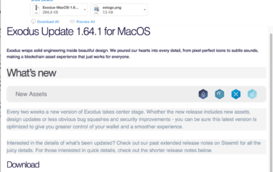 Mac Users Using Exodus Cryptocurrency Wallet Targeted by a Small Spam Campaign