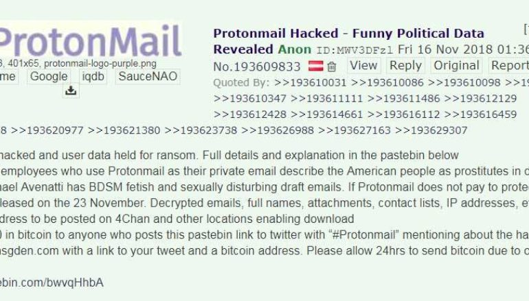 Protonmail Hacked – A Very Strange Scam Attempt