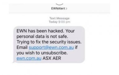 Detection Limited Hacker Access to EWN Database