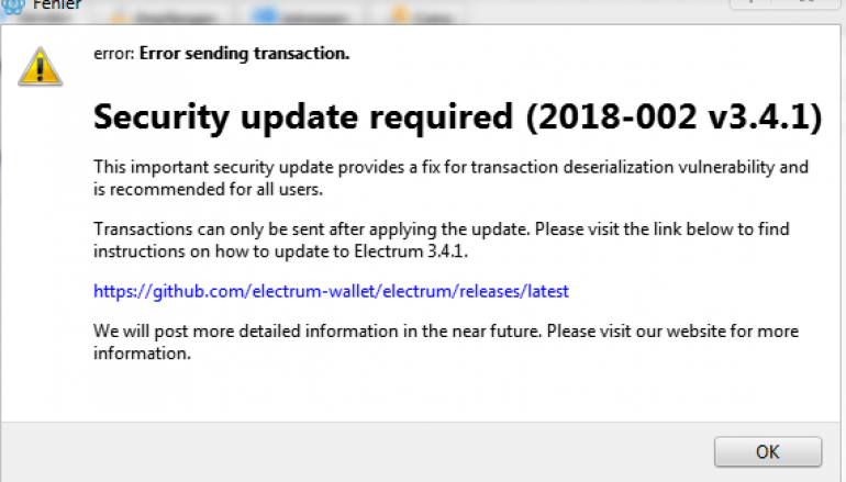 Hackers Stole $750,000 Worth Bitcoin from Electrum Wallets