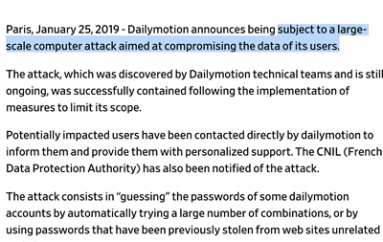 Password Reuse Likely Cause of Dailymotion Attack