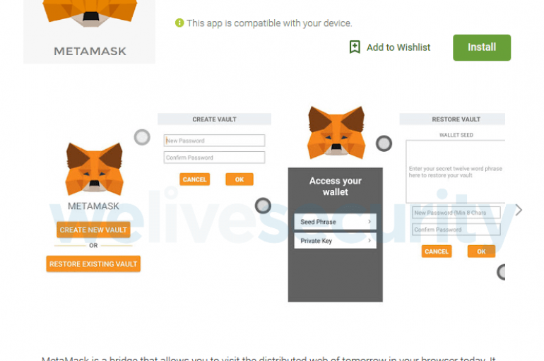 MetaMask App on Google Play was a Clipboard Hijacker