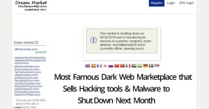 Most Famous Dark Web Marketplace that Sells Hacking tools