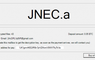 New JNEC.a Ransomware Delivered Through WinRAR Exploit