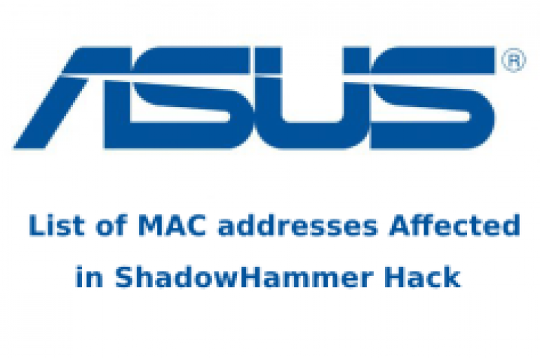 ASUS Hack – Here is the List of MAC Addresses Affected in the ShadowHammer Cyberattack
