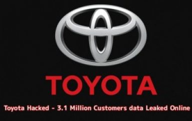 Toyota Hacked – Hackers Leaked 3.1 Million Customers Sensitive Information Online