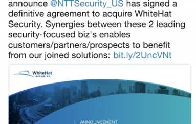 NTT Signs Deal to Acquire WhiteHat Security