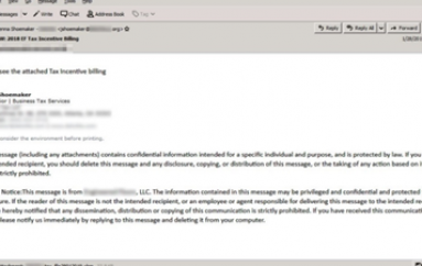 TrickBot Used in Tax Season Email Spoofing