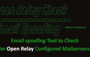 Email Spoofing Tool to Detect Open Relay Configured Public Mail Servers