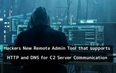 Hackers Behind DNSpionage Created a New Remote Admin Tool for C2 Server Communication Over HTTP and DNS