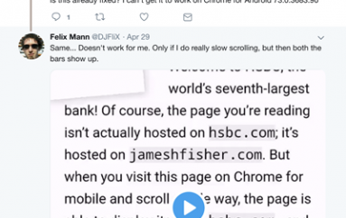 Developer Reveals Phishing Exploit in Chrome