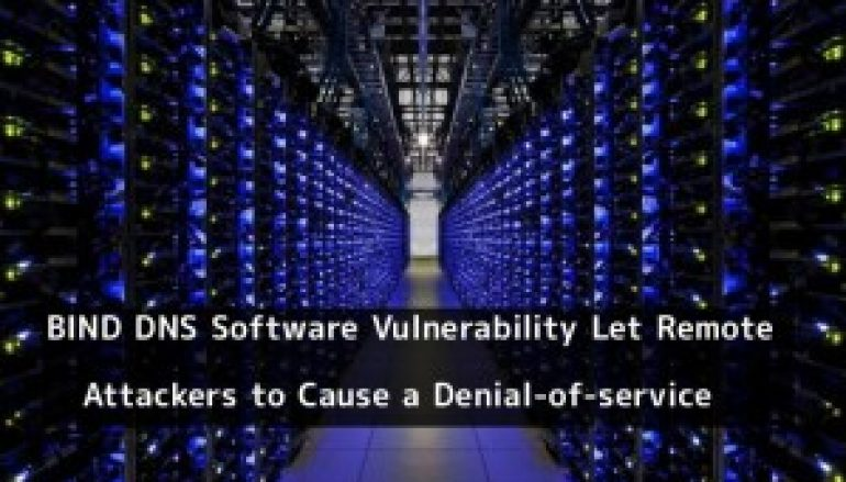 BIND DNS Software Vulnerability Let Remote Attackers to Cause a Denial-of-service Condition