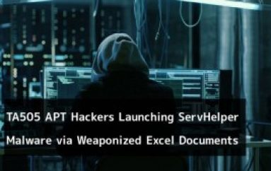 TA505 APT Hackers Launching ServHelper Backdoor Malware via Weaponized Excel Documents