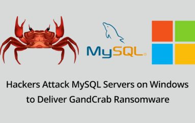 Hackers Attack MySQL Servers on Windows to Deliver GandCrab Ransomware