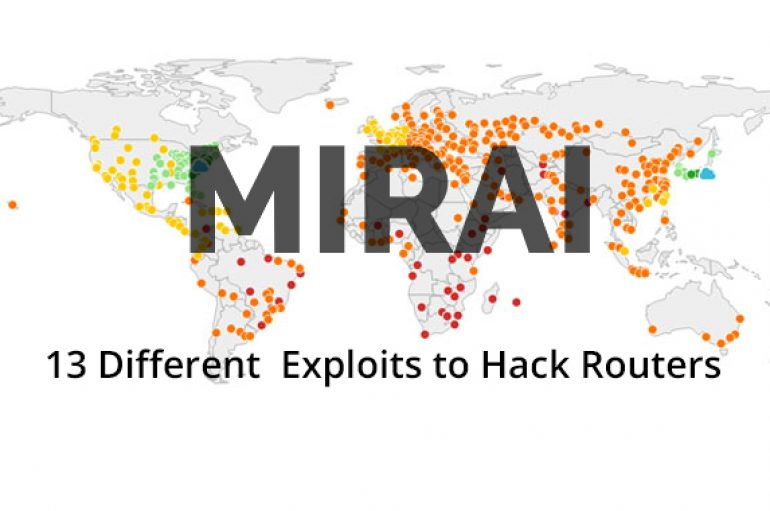 New Variant of Mirai Malware Using 13 Different  Exploits to Hack Routers Including D-Link, Linksys, GPON, Netgear, Huawei