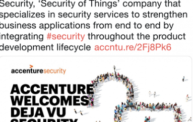 Accenture Acquires Deja vu Security