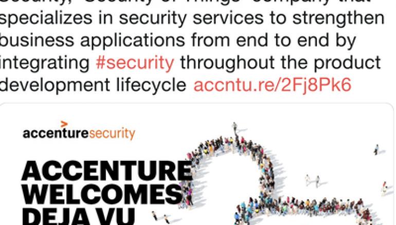 Accenture Acquires Deja vu Security