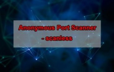 scanless – A Pentesting Tool to Perform Anonymous Open Port Scan on Target Websites