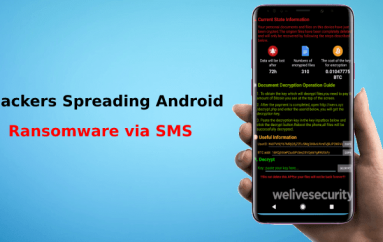 Hackers Spreading Android Ransomware via SMS to your Contacts and Encrypt your Device Files