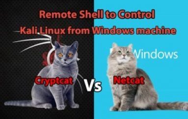 Netcat vs Cryptcat – Remote Shell to Control Kali Linux from Windows Machine