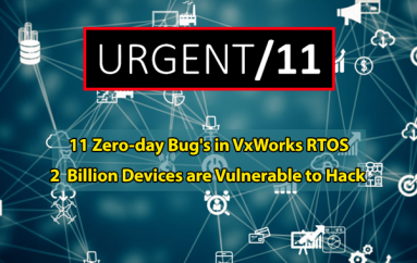 11 Zero-Day Vulnerabilities Found in VxWorks RTOS – 2  Billion Devices are Vulnerable to Remote Hack