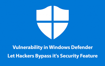 Vulnerability in Windows Defender Application Control Let Hackers Bypass It's Security Feature