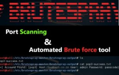 Brutespray – Port Scanning and Automated Brute Force Tool