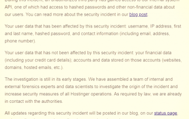 Hostinger Disclosed a Data Breach that Affects 14 Million Customers