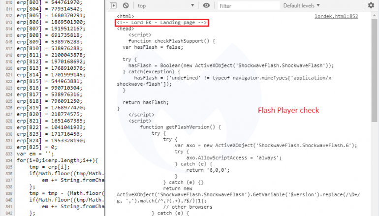 New Lord Exploit Kit Appears in the Threat Landscape
