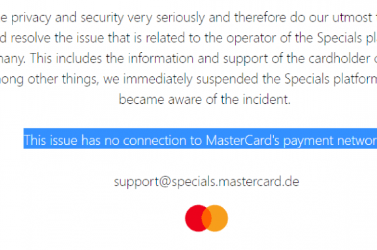 Mastercard Data Breach Affected Priceless Specials Loyalty Program
