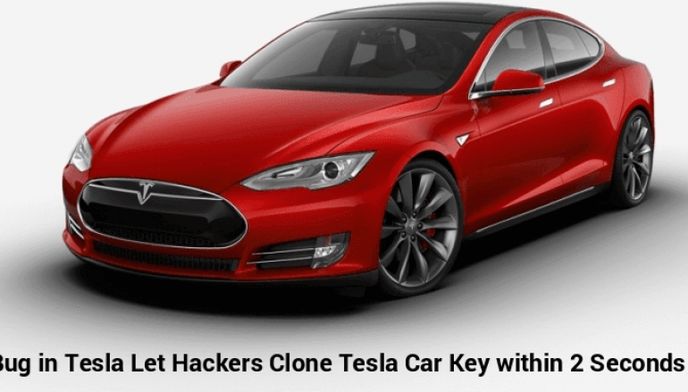 A Critical Vulnerability in Tesla Model S Let Hackers Clone The Car Key Within 2 Seconds & Steal Car