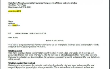 American Insurance Firm State Farm Victim of Credential Stuffing Attacks