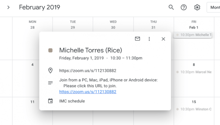 Experts Warn of the Exposure of Thousands of Google Calendars Online