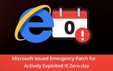 Microsoft Emergency Patch – IE Zero-day Vulnerability Let Hackers Execute Arbitrary Code Remotely in Windows PC